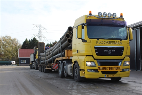 transport naar project zand